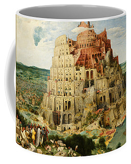 Coffee Mug featuring the painting The Tower Of Babel  by Pieter Bruegel the Elder