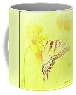 Tiger Swallowtail Butterfly On Cosmos Flower Coffee Mug