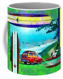 60's Surfing Coffee Mug