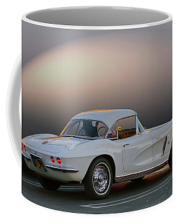 62 White Red Corvette Coffee Mug