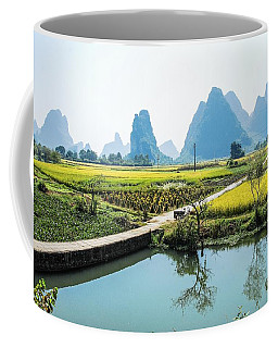 Rice Fields Scenery In Autumn Coffee Mug
