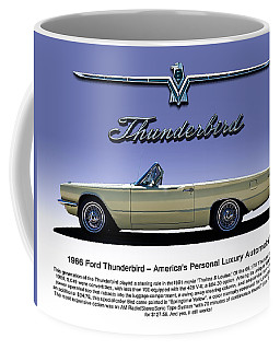 Coffee Mug featuring the digital art 66 T-bird Display Piece by Douglas Pittman