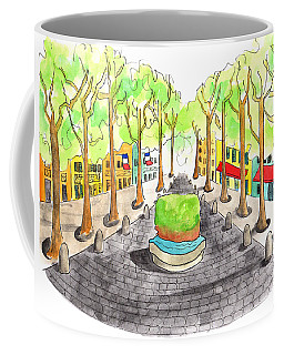 Cours Mirabeau With Trees And Fountain  Coffee Mug