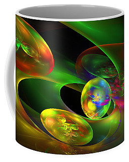 Computer Generated Planet Sphere Abstract Fractal Flame Modern Art Coffee Mug by Keith Webber Jr