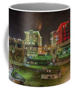 Greenville South Carolina Near Falls Park River Walk At Nigth. Coffee Mug