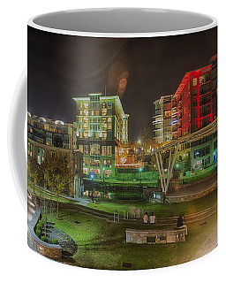 Greenville South Carolina Near Falls Park River Walk At Nigth. Coffee Mug
