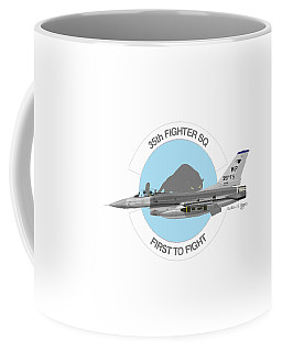 Coffee Mug featuring the digital art Lockheed Martin F-16c Viper by Arthur Eggers