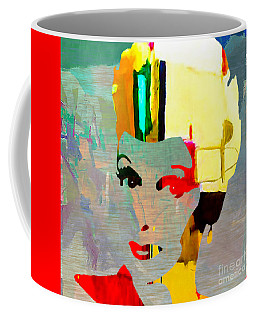 Coffee Mug featuring the mixed media Lucille Ball by Marvin Blaine