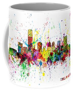 Coffee Mug featuring the digital art Oklahoma City Skyline by Michael Tompsett