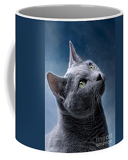 Russian Blue Cat Coffee Mug