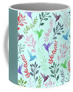 Watercolor Floral And Birds Coffee Mug