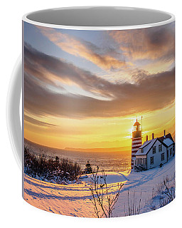 Coffee Mug featuring the photograph West Quoddy Head Lighthouse by Trace Kittrell