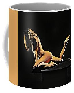 7038s-amg Watercolor Of Beautiful Mature Nude Woman Coffee Mug