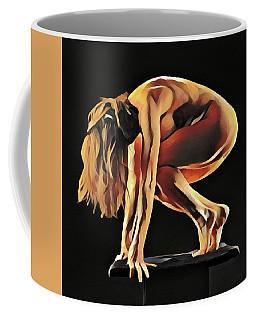 7188s-amg Nude Watercolor Of Sensual Mature Woman Coffee Mug by Chris Maher