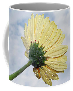 Coffee Mug featuring the photograph Yellow Gerber by Elvira Ladocki