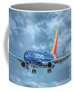 Coffee Mug featuring the photograph 737 by Guy Whiteley