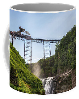 Coffee Mug featuring the photograph 765 Over Upper Falls by Mark Papke