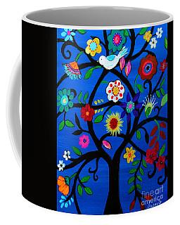 Coffee Mug featuring the painting Tree Of Life by Pristine Cartera Turkus