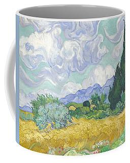 A Wheat Field With Cypresses Coffee Mug