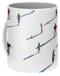 Aerial View Of Ice Skating Coffee Mug