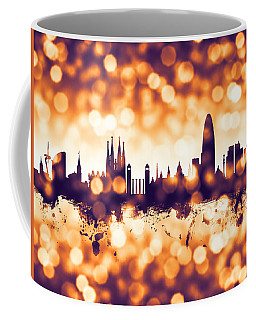 Barcelona Spain Skyline Coffee Mug
