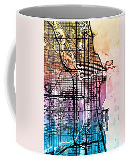 Chicago City Street Map Coffee Mug