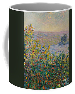 Flower Beds At Vetheuil Coffee Mug