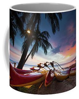 Kihei Canoes Coffee Mug by James Roemmling