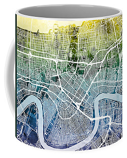 New Orleans Street Map Coffee Mug by Michael Tompsett