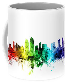 San Diego California Skyline Coffee Mug