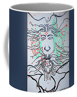 Coffee Mug featuring the painting The Holy Trinity by Gloria Ssali
