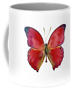 83 Red Glider Butterfly Coffee Mug