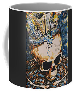 Coffee Mug featuring the painting 9/11 by Reed Novotny