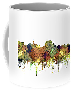 Augusta Maine Skyline Coffee Mug by Marlene Watson