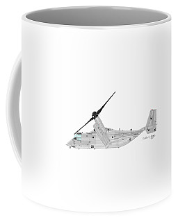 Coffee Mug featuring the digital art Bell-boeing Mv-22b Osprey by Arthur Eggers