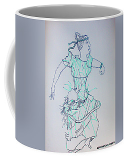 Coffee Mug featuring the painting Kiganda Dance - Uganda by Gloria Ssali