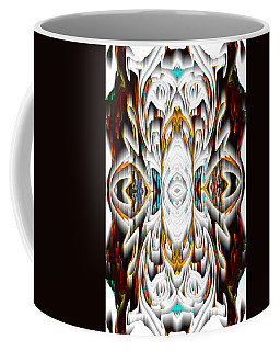 Coffee Mug featuring the digital art 992.042212mirror2ornateredagold-1a-1 by Kris Haas