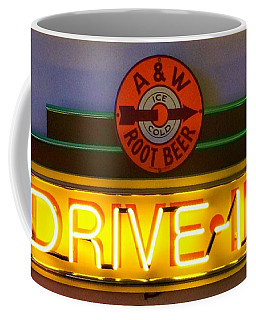 A And W Ice Cold Root Beer  Drive In  Coffee Mug by Patricia E Sundik
