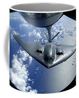 A B-2 Spirit Moves Into Position Coffee Mug