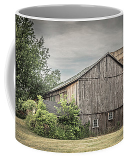 A Barn In Cowlesville Coffee Mug by Guy Whiteley