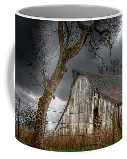 A Barn In The Storm 2 Coffee Mug by Karen McKenzie McAdoo