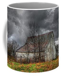 A Barn In The Storm 3 Coffee Mug by Karen McKenzie McAdoo
