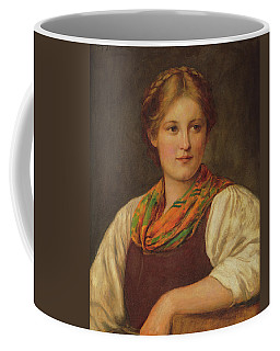 A Bavarian Peasant Girl Coffee Mug