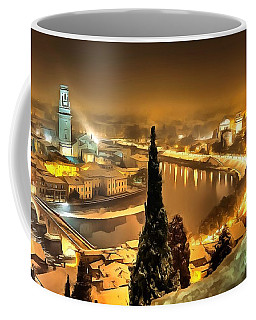 A Beautiful Blonde In Thick Paint Coffee Mug