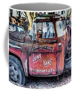A Beautiful Rusty Old Tow Truck Coffee Mug