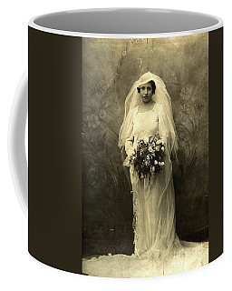 A Beautiful Vintage Photo Of Coloured Colored Lady In Her Wedding Dress Coffee Mug