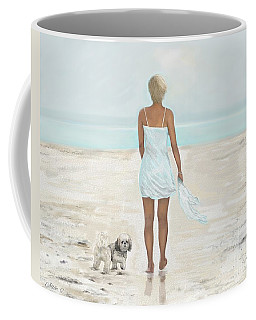 Coffee Mug featuring the painting A Beautiful Walk by Leslie Allen