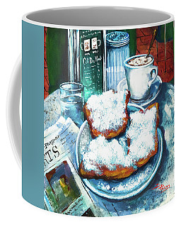 A Beignet Morning Coffee Mug