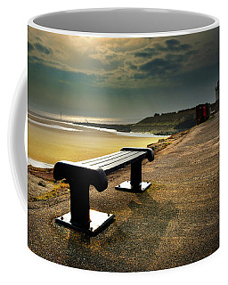 A Bench By The Sea Coffee Mug