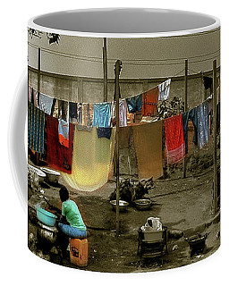 Coffee Mug featuring the photograph A Big Wash by Wayne King